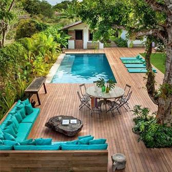 Havuzlu bahçe tasarımı